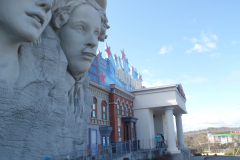 Outside of Hollywood Wax Museum in Pigeon Forge, TN