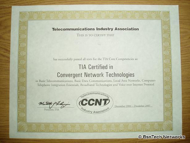 Certified in Convergent Network Technologies