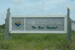 Henderson Beach State Park Sign