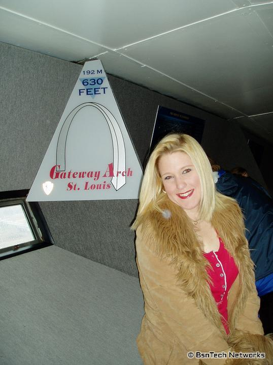 Heather in the St. Louis Arch