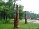 Sculptures at Starved Rock