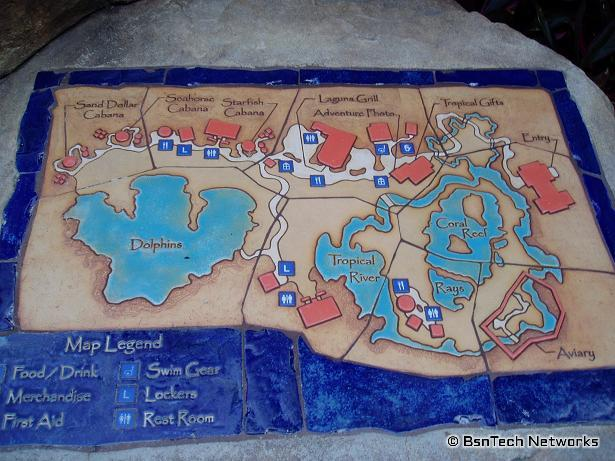 on discovery cove map
