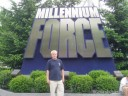 Dan in front of Millennium Force