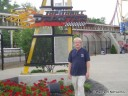 Dan in front of Top Thrill Dragster