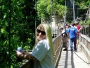 Heather on the Suspension Bridge