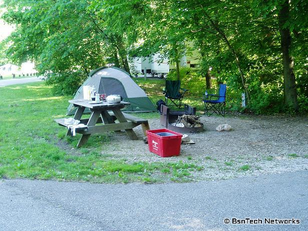 Camping at Turkey Run State Park