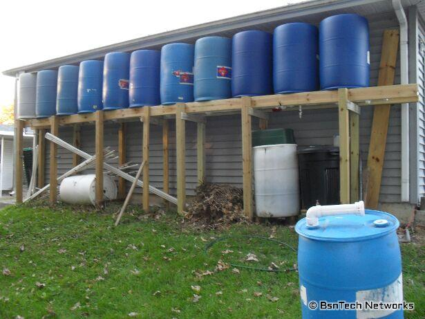 660 Gallon Rain Collection System