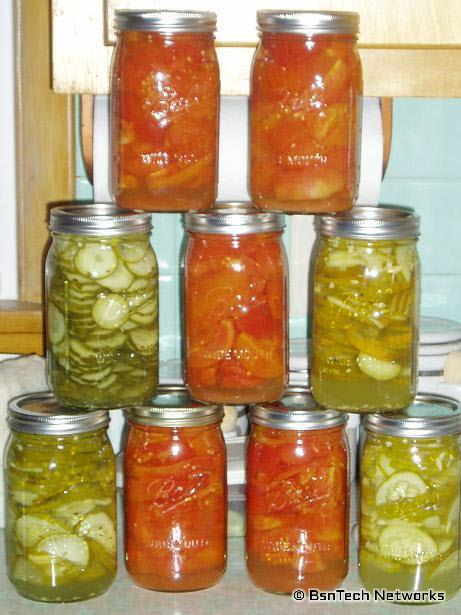 Tomato and Pickle Canning