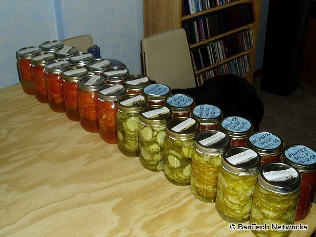 Canning Done So Far
