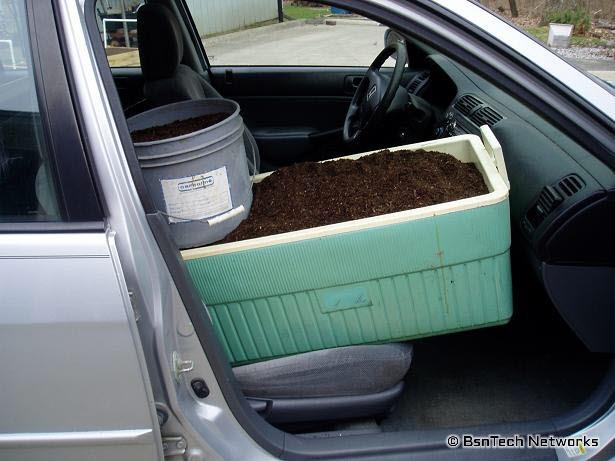 Front Seat with Dirt