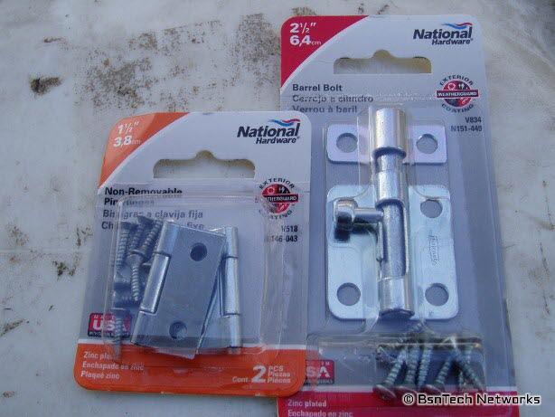 Hinges & Barrel Bolt Kit