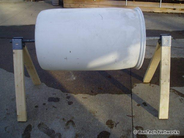 Composter with steel pipe