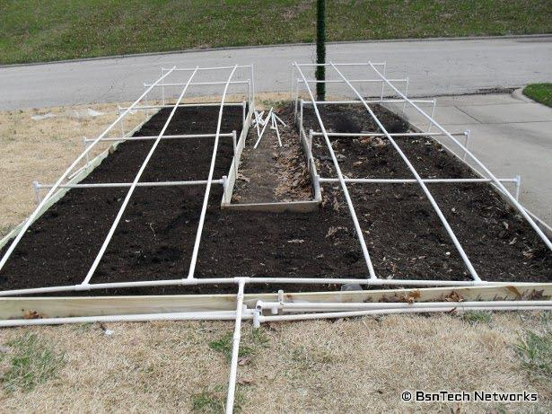 Front Bed and PVC Irrigation System