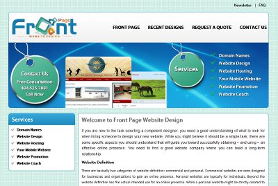 Front Page Website Design