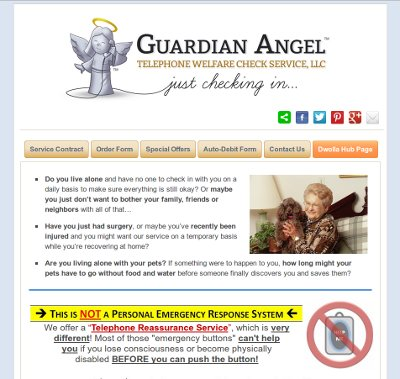 Guardian Angel Telephone Welfare Check Service