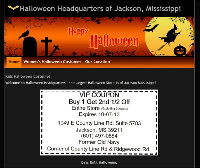 Halloween Headquarters of Jackson Mississippi