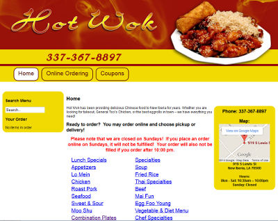 Hot Wok New Iberia LA