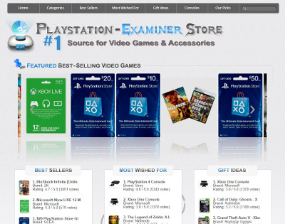 Playstation Examiners Store