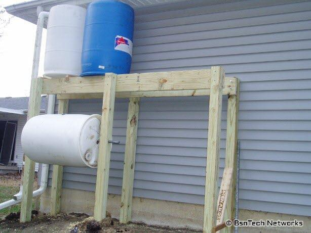 Rain Barrel Tower & Compost Roller