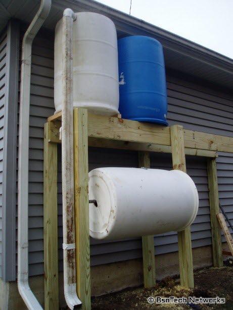 Rain Water Tower & Compost Tumbler