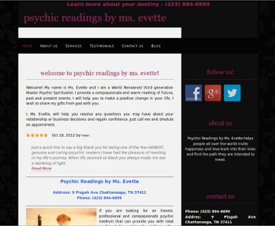 Psychic Readings by Ms. Evette