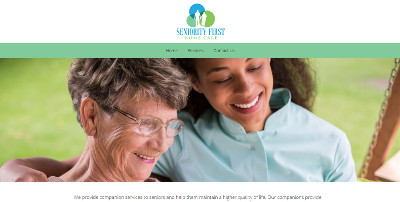 Website Design For Seniority First Home Care Bsntech Networks