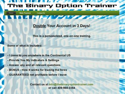 The Binary Option Trainer