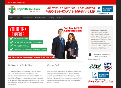 Rapid Resolution Tax Group