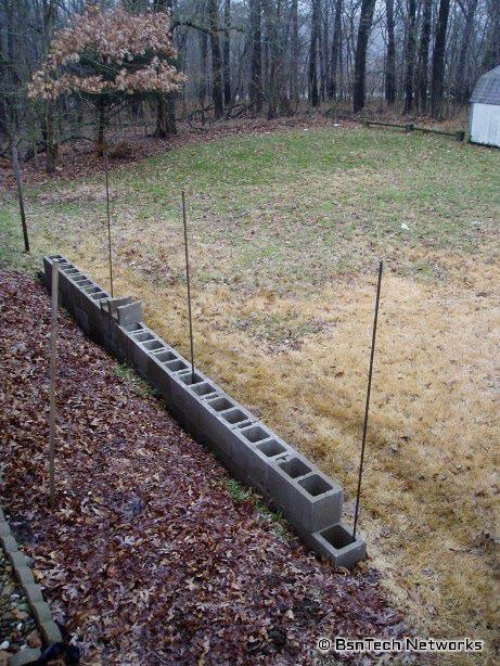 Foundation Block Retaining Wall