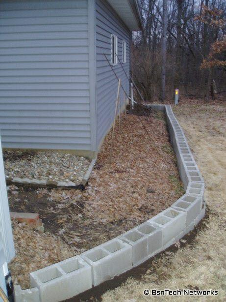 Foundation Block Retaining Wall
