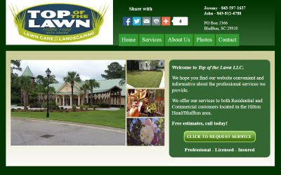 Lawn Service Company Website Design