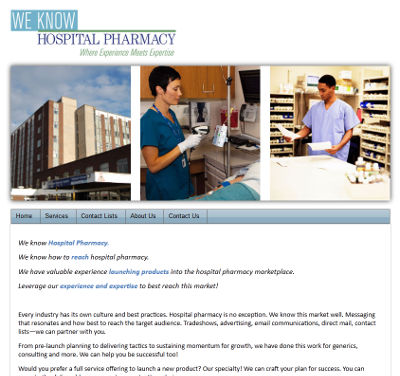 We Know Hospital Pharmacy