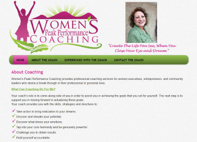 Women's Peak Performance Coaching